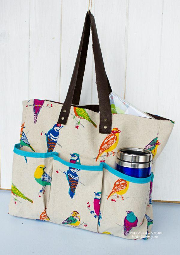 Bennett Bag PDF Pattern | carteras y bolsos | Pinterest | Nähen