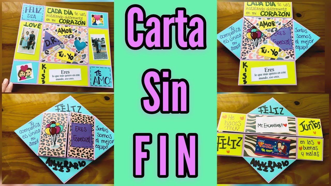 Carta Sin Fin Paso A Paso Tarjeta Infinita Interminable