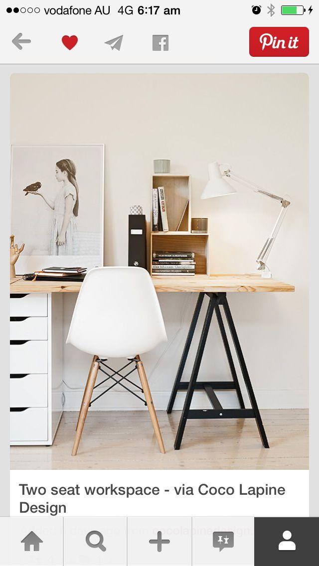 trestle desk baohaus pinterest decos d co maison et bureau. Black Bedroom Furniture Sets. Home Design Ideas
