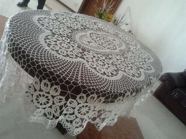 Manteles ovalados a crochet y patrones - Imagui | manteles tejidos a ...