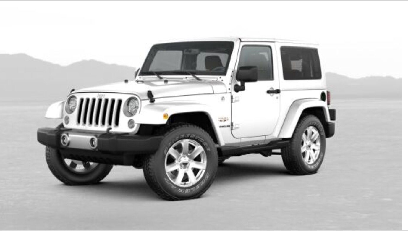 White Jeep Wrangler Sahara manual 2 door Jeep wrangler