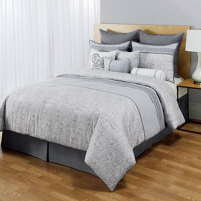 Home Classics Juneau 10 Pc Reversible Comforter Set Comforter Sets Queen Comforter Sets