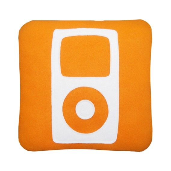 iPod Icon Pillow by Craftsquatch on Etsy, $29