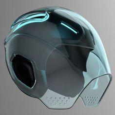 helmet concept tron