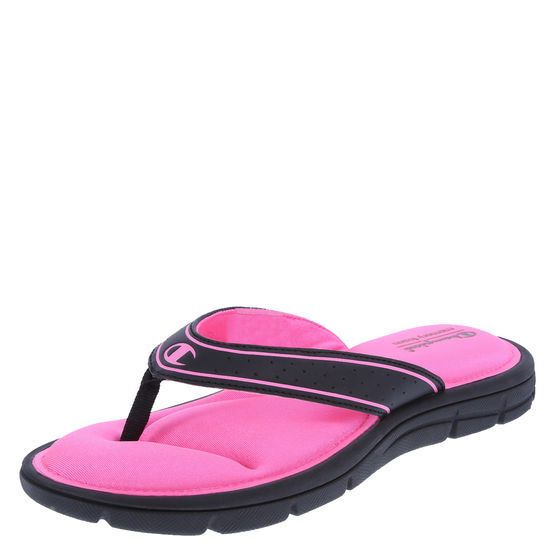 fd431e48f756 Find renewed faith in the comfort of flip flops with this gem from Champion.  It features padded lining with a cushioned memory foam footbed
