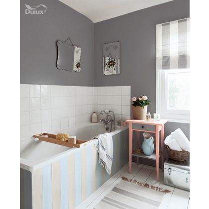 Dulux Bathroom Urban Obsession - 50ml | Homebase | Small Bathroom Interior, Bathroom Style, Bathroom Design