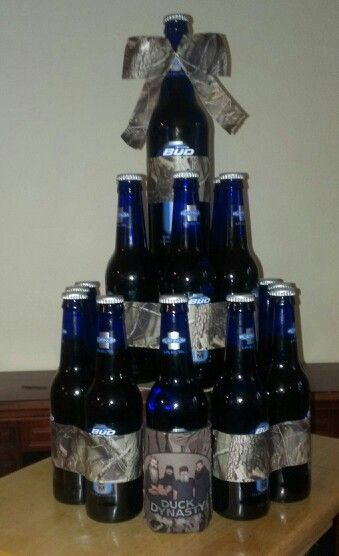 Beer Bottle Cake With Rootbeer In The Middle Cause Cake