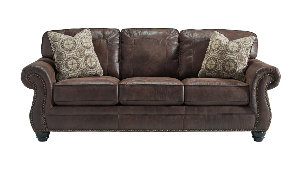 Valley 3 Seater Faux Leather Sofa with Nailhead Trim Gallery