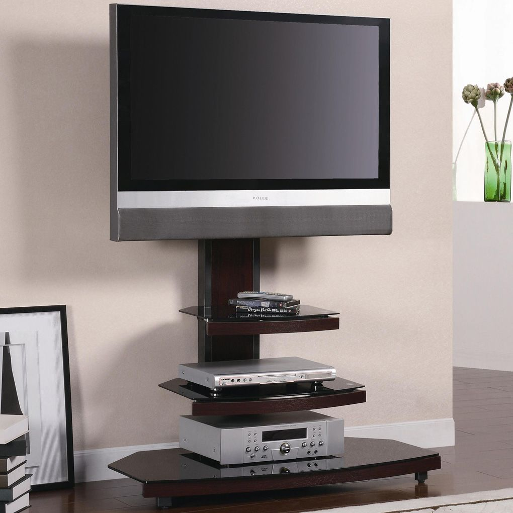 Wood And Glass Tv Stand Tv Stands Glass Tv Stand Small Spaces