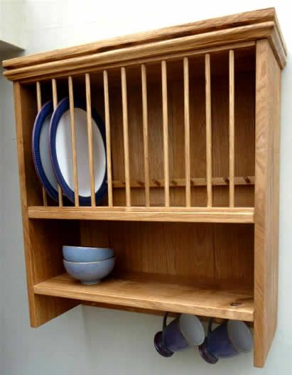 Tewksbury single Oak Plate Rack for above the sink. & Tewksbury single Oak Plate Rack for above the sink. | muebles ...