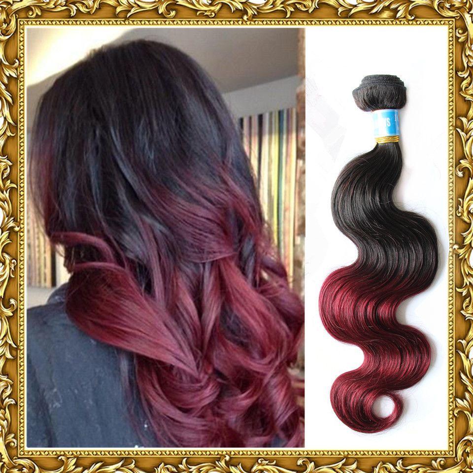 Aliexpress Buy Peruvian Virgin Hair Body Wave Ombre Hair