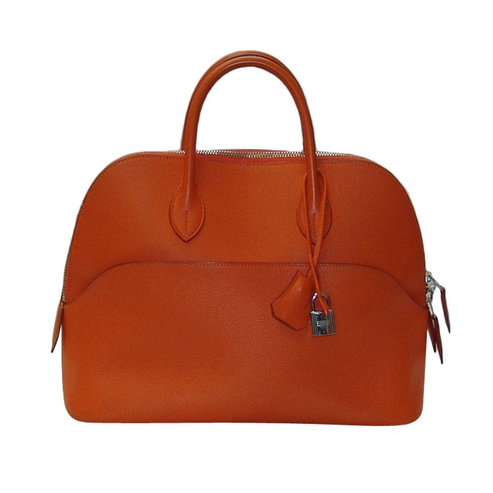 Hermes Orange Clemence Leather Bolide 1923 30cm Hermes Orange Leather Handbag
