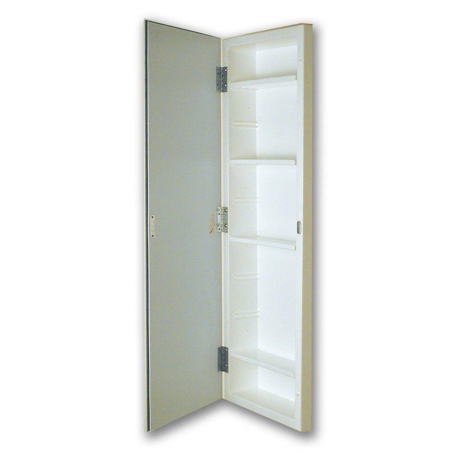American Pride 12 In X 36 In Rectangle Recessed Mirrored Plastic Medicine Cabinet Lowes Com Recessed Medicine Cabinet Bathroom Remodel Master Smart Closet