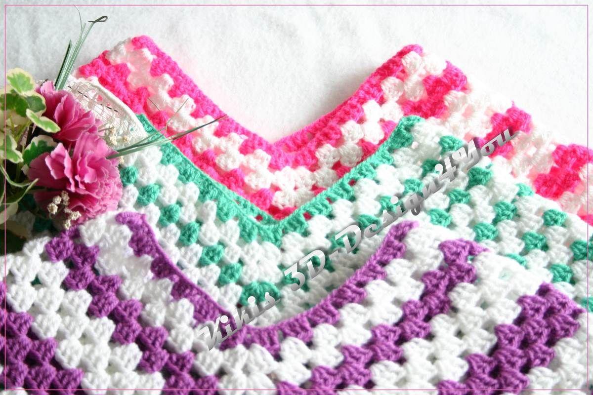Outstanding Baby Poncho Muster Häkeln Elaboration - Decke Stricken ...