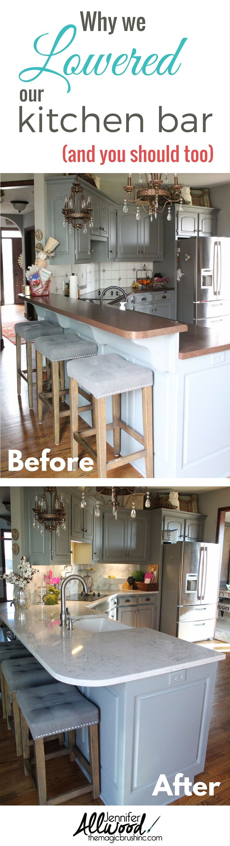 Pin It: Why We Lowered Our Kitchen Counter Bar