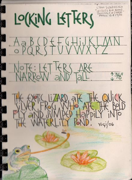 Hand Lettering Exemplars For Journal March 2006