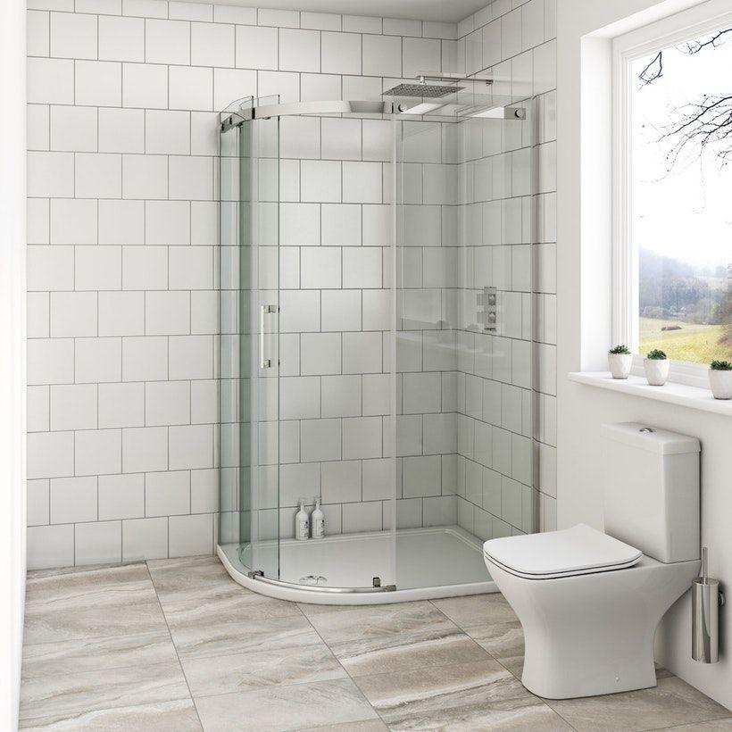 Mode Harrison 8mm Left Handed Offset Quadrant Shower Enclosure Quadrant Shower Enclosures Shower Enclosure Quadrant Shower