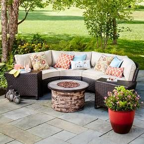 Best Threshold™ Harrison 7 Piece Wicker Sectional Patio Seating 400 x 300