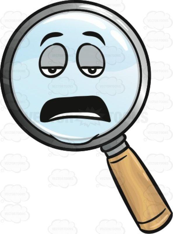 Tired Magnifier Emoji Tired Eyes Emoji Magnifier