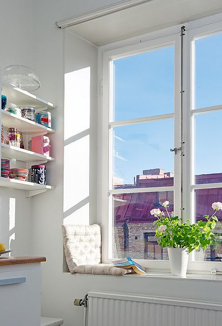 cute shelves and window nook