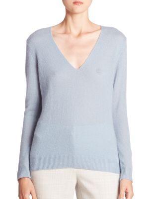 THEORY Adrianna Cashmere V-Neck Sweater. #theory #cloth #sweater