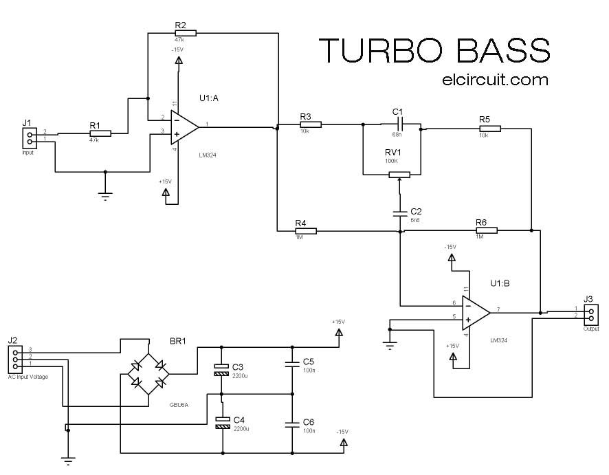 Turbo Bass or Bass Booster Circuit | Circuits, Bass and Subwoofer ...