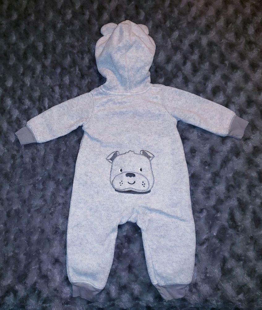 3ffe3805a3b4 EUC Carters Baby Boy Clothes 3 Months One Piece Long Sleeve Fleece Hooded  Romper #fashion #clothing #shoes #accessories #babytoddlerclothing ...
