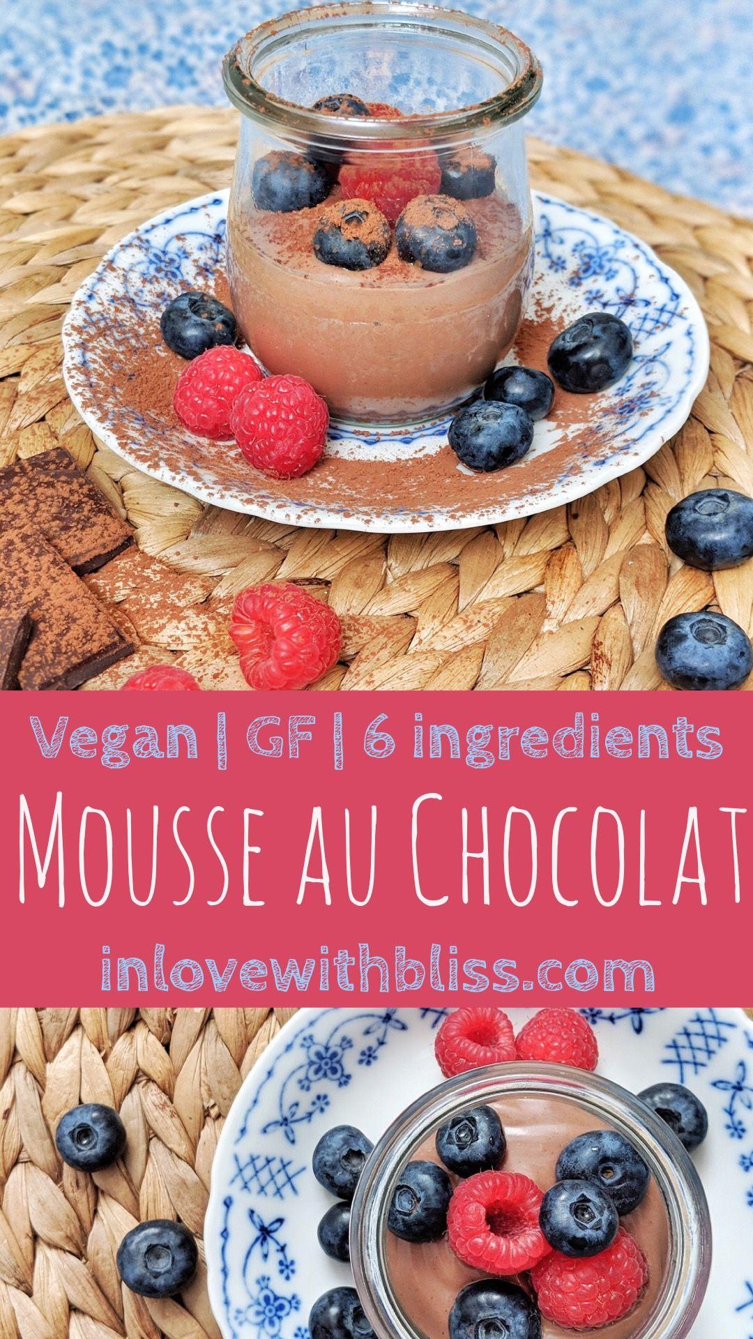 Vegane Mousse au Chocolat Rezept Süße desserts