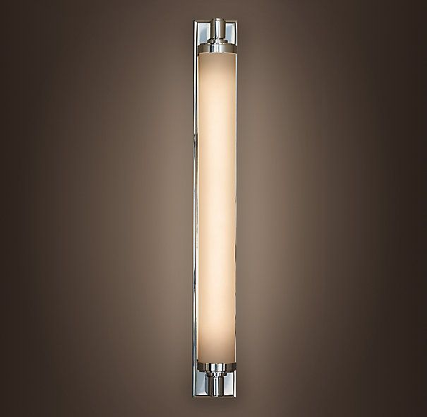 "Horizontal Bathroom Sconces chandler sconce - polished nicke. 3.25""w x 4.25""d x 28.75""h"