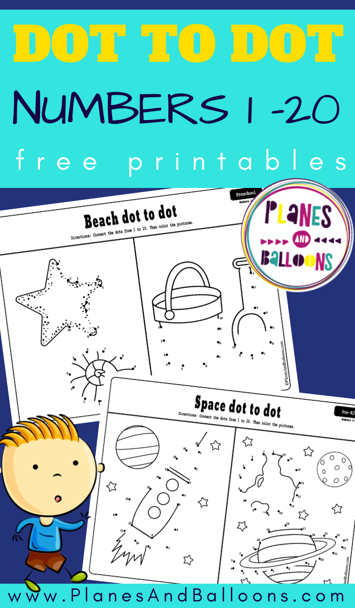 Easy Dot To Dot Printables 1 10 And 1 20 For Preschool And Kindergarten Numbers Preschool Kindergarten Worksheets Free Printables Dot To Dot Printables [ 1200 x 700 Pixel ]