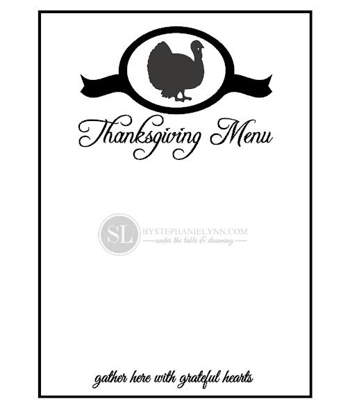 thanksgiving dinner menu template - Funfpandroid