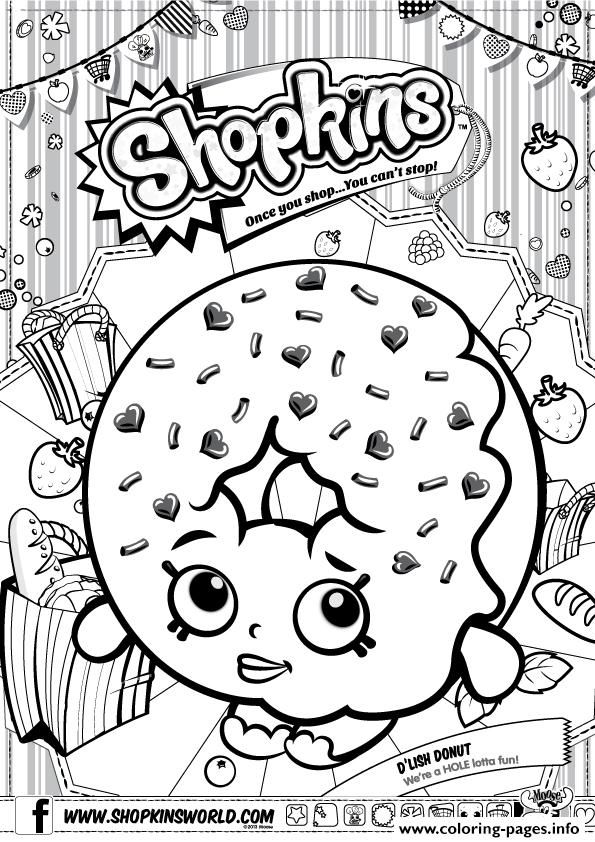 print shopkins d lish donut coloring pages