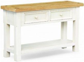 Country Style Cuisine Painted Oak Two Drawer Console Table Mobilier De Salon Renovation Meuble Renovation Meuble Ancien