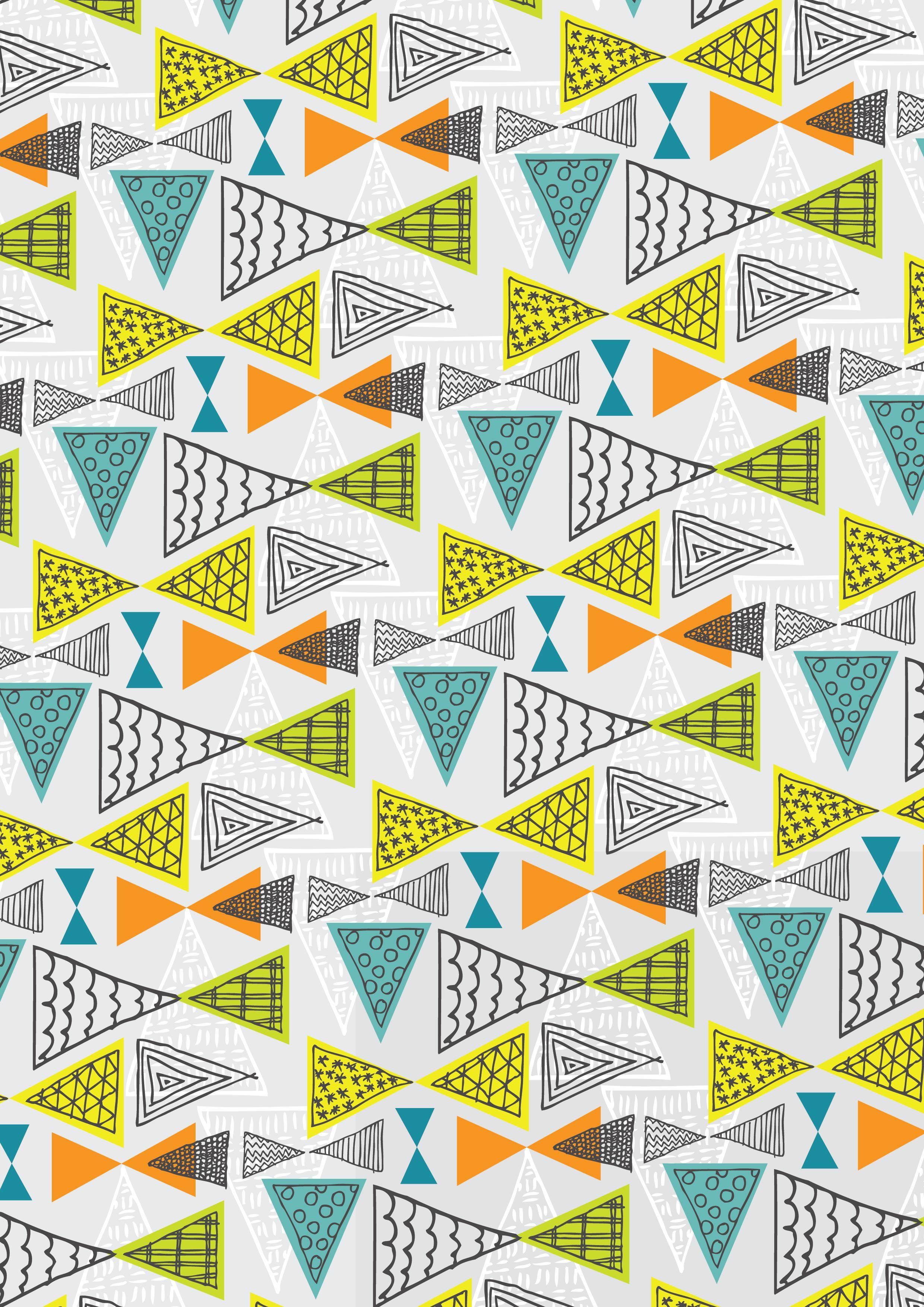 doodle geometric mid century modern triangles pattern ryan deighton design patterns. Black Bedroom Furniture Sets. Home Design Ideas