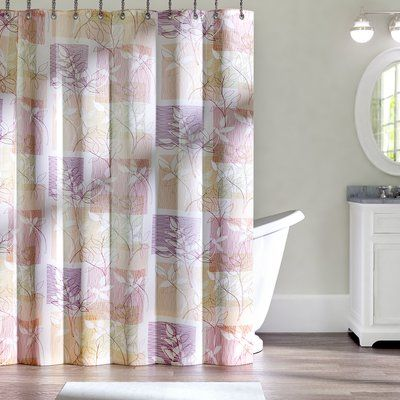 Andover Mills Nightingale Single Shower Curtain Color Purple Tan