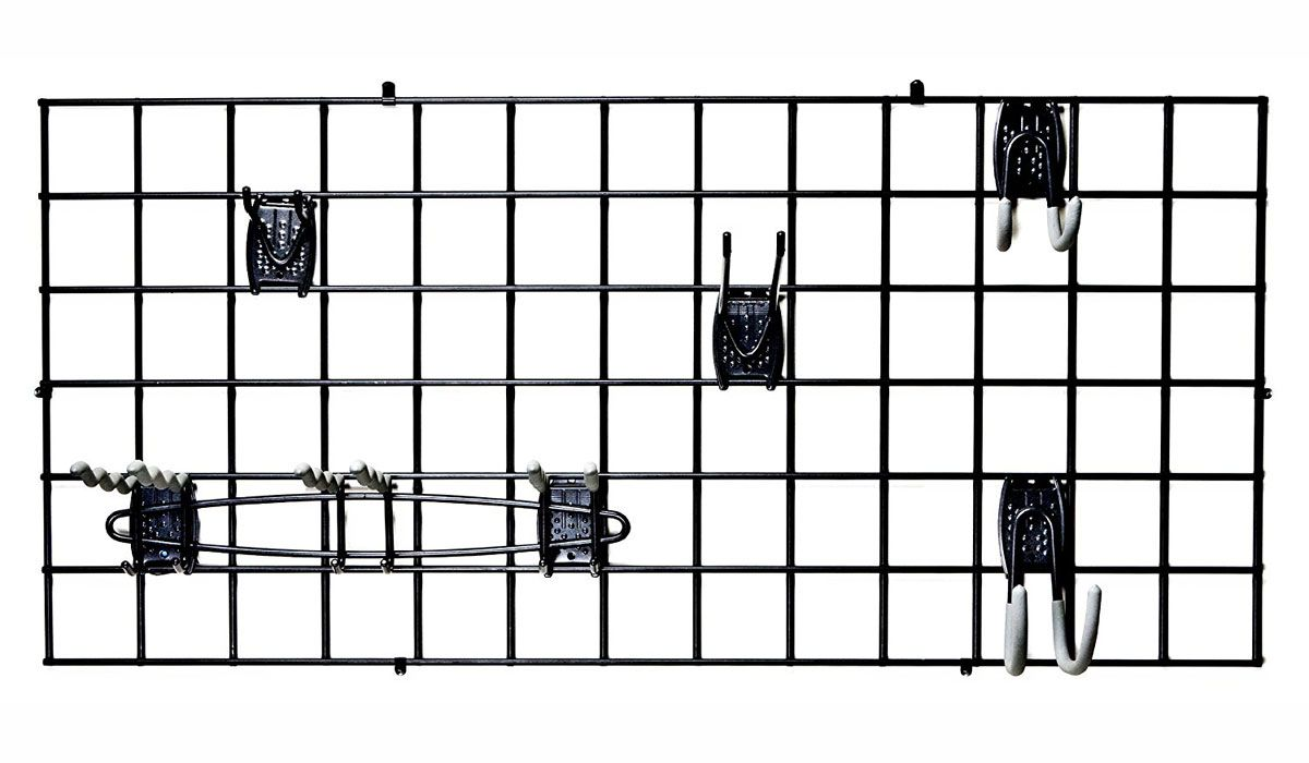 This Heavy Duty Garage Grid Organizer Supports All The FreedomRail Hooks And Racks So You