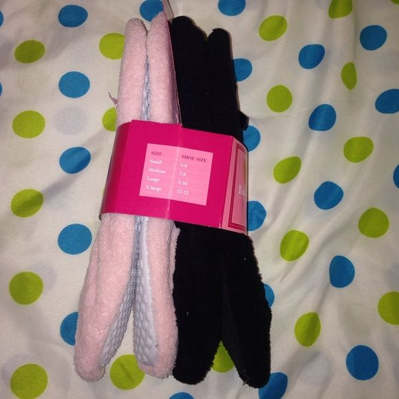 Ballerina slippers! These are super comfortable to wear around the house! 2 pack with black and pink! *Elastic goring, padded sock, and skid resistant. Shoes Slippers