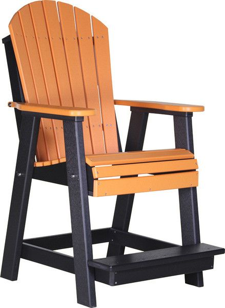 Luxcraft Counter Height Recycled Plastic Adirondack