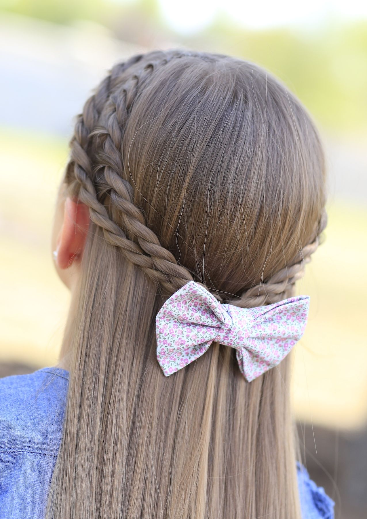 Rope braid tieback hairstyle and more hairstyles from