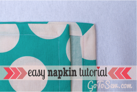 This free sewing tutorial from Go To Sew will show you how to make cloth napkins with mitered corners. So awesome!
