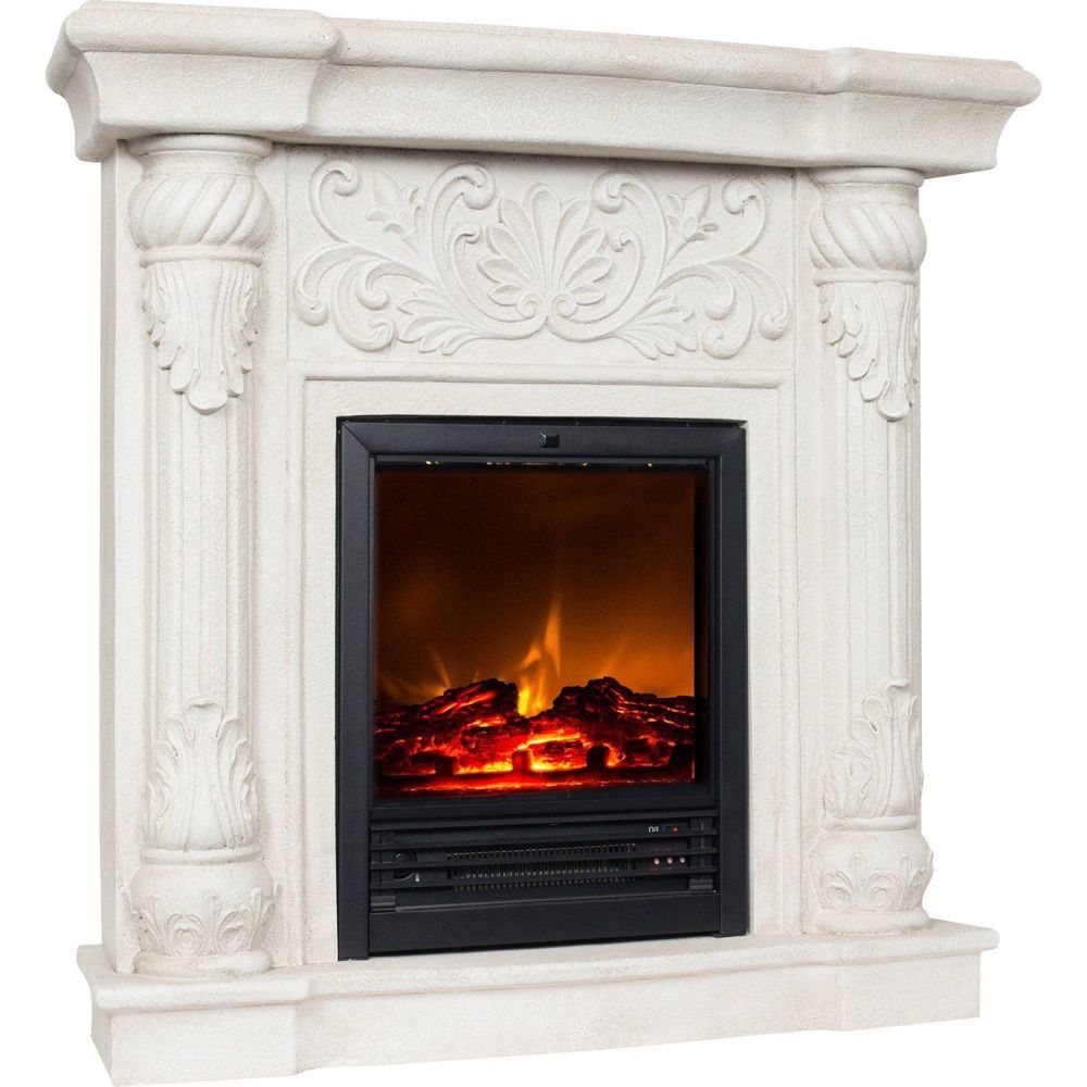 Luxury Electric Fireplace Heater 41 Mantle Stove Real Flames Effect Furniture Fireplace Heater Electric Fireplace Heater Electric Fireplace Electric fireplace heater with mantle