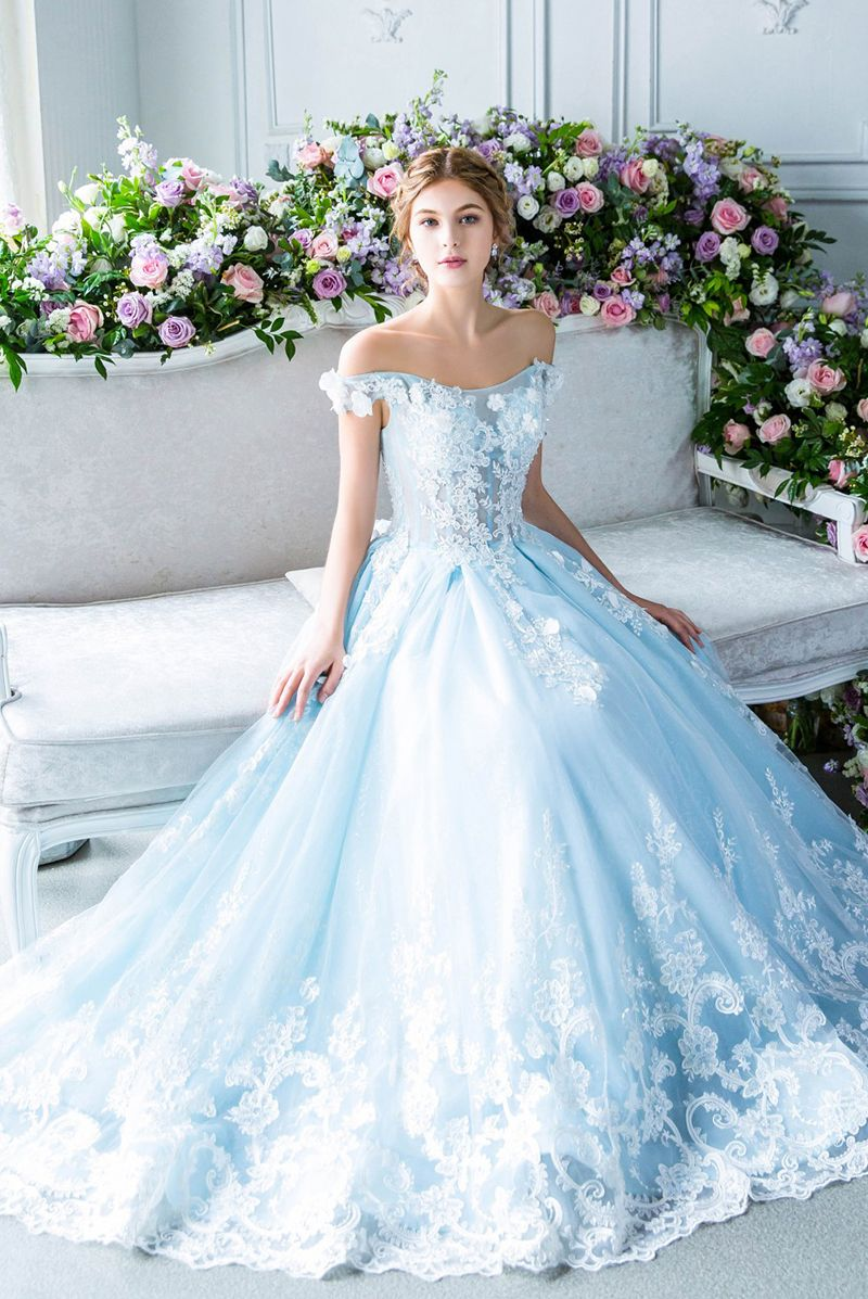 15 Fairy Tale Worthy Wedding Dresses For The Fashion Loving Bride Fairy Tale Wedding Dress Pastel Wedding Dresses Fairy Wedding Dress