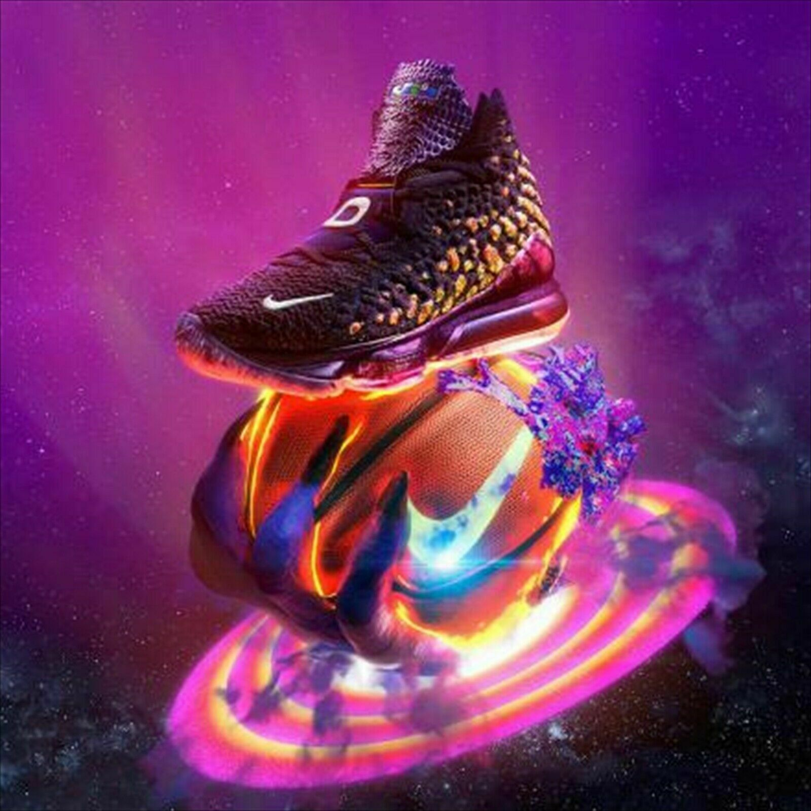 Nike Lebron 17 Xvii Monstars Space Jam Basketball Shoes Gym Cd5050-400 Size 7