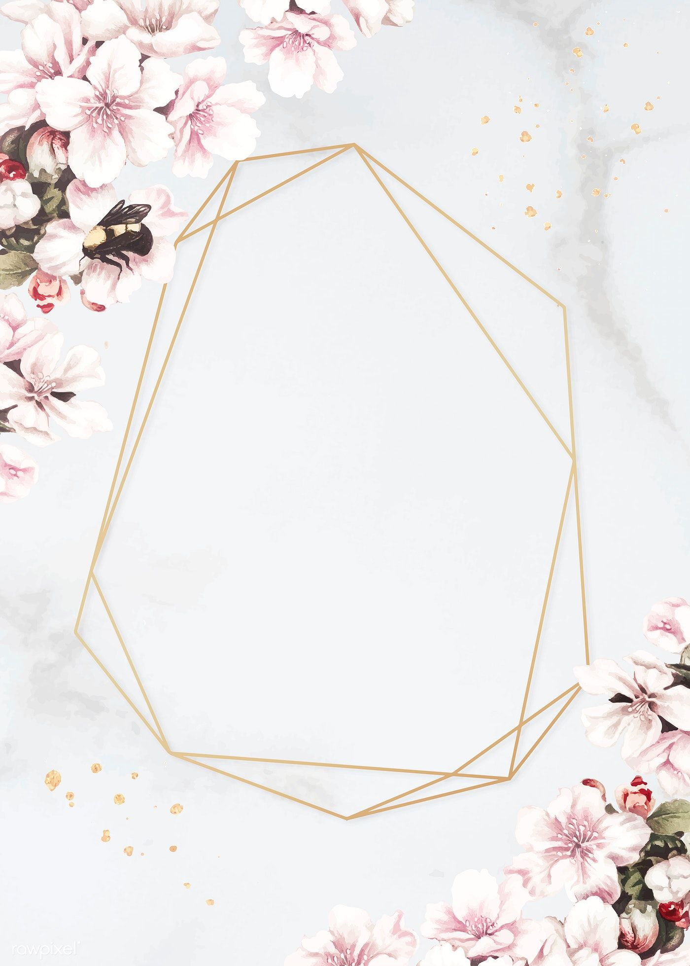 Download premium vector of Blank floral golden frame
