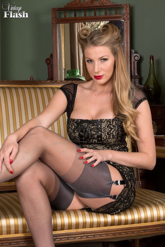 Vintage Flash — Danielle Maye feels gloriously decadent in her ... 3a893c5e7e42
