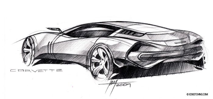 Pencil Sketches Car