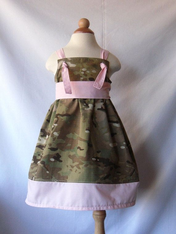 Girls Military Army Multicam Knot Dress With By Philopolis On Etsy