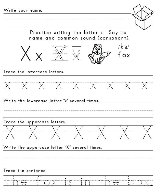 LetterXWorksheet1 Letters of the Alphabet Pinterest