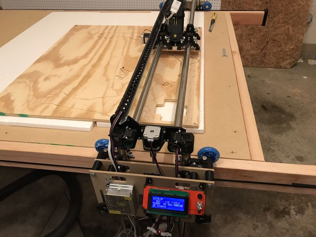 LowRider CNC Full Sheet 4x8 CNC Router by swholmstead