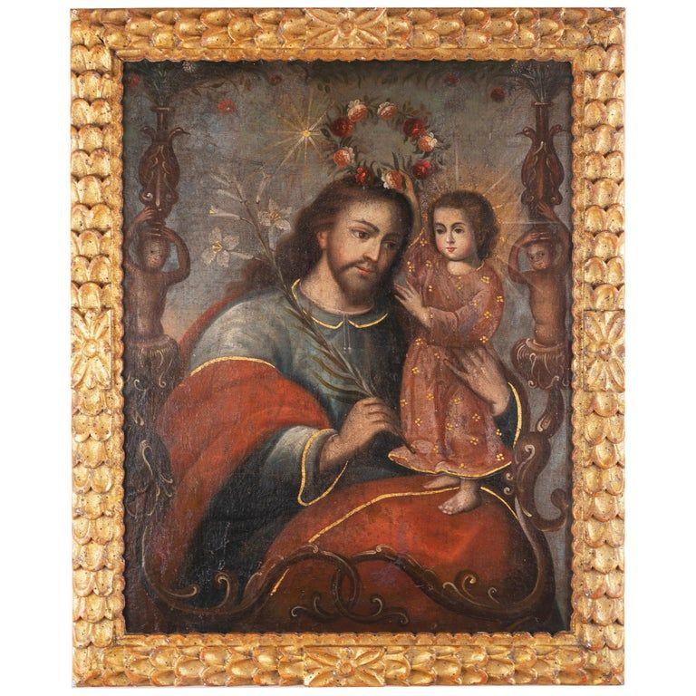 San Jose Con Nino Painting Christ Child St Joseph